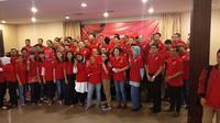 Relawan Jokowi 2 Periode (J2P) meluncurkan situs J2P.id. (Liputan6.com/Putu Merta Surya Putra)