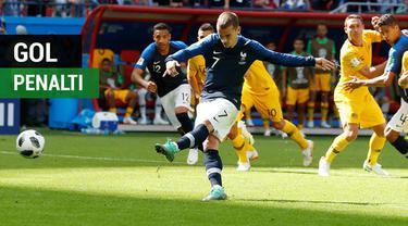 Berikut para pencetak gol penalti sementara ini di Piala Dunia 2018, salah satunya adalah bintang asal Prancis, Antoine Griezmann.