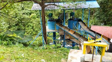 PLN produksi listrik lewat pikohidro dengan memanfaatkan air limpahan dari PLTM Hanga-Hanga, Luwuk, Sulawesi Tengah. (Dok PLN)