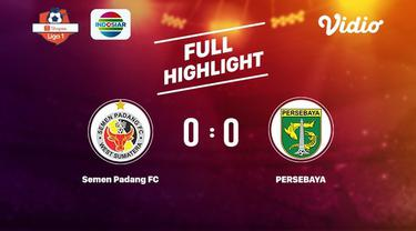 Laga lanjutan Shopee Liga 1,Semen Padang vs Persebaya berimbang skor 0-0 #shopeeliga1 #Semenpadang #Persebaya