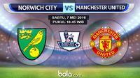 Norwich City vs Manchester United (bola.com/Rudi Riana)