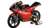 Tampilan motor Indonesian Racing Team Gresini Moto3 untuk 2021. (Dok MotoGP)