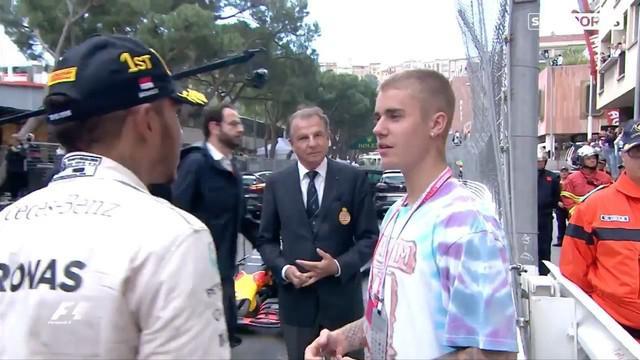 Video selebrasi Lewis Hamilton bersama Justin Bieber saat memenangkan Formula 1 di GP Monako pada Minggu (29/5/2016).