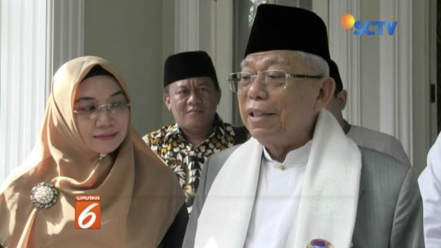 Ma'ruf Amin menyatakan siap lawan Sandiaga Uno pada debat ketiga pada 17 Maret 2019.