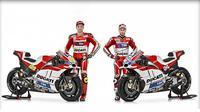 Ducati resmi meluncurkan motor baru, Desmosedici GP, untuk musim 2016, di markas tim, Bologna, Italia, Selasa (23/2/2016)