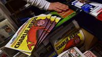 Ilustrasi majalah mingguan Charlie Hebdo. (Sumber AFP)