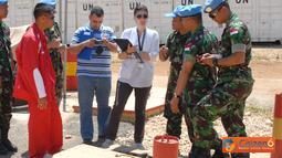 Citizen6, Lebanon: Tim Lingkungan dari HQ UNIFIL Naqoura mengecek kesehatan lingkungan Markas Satuan Tugas Batalyon Mekanis TNI Konga XXIII-F/UNIFIL (Indobatt), Kamis (10/5). (Pengirim: Badarudin Bakri)