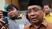 Mensesneg Pratikno memberikan keterangan prosesi siraman Kahiyang Ayu - Bobby Nasution (Adrian Putra/bintang.com)