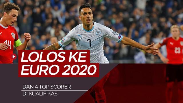 Berita video 4 top scorer serta 6 tim yang lolos ke Euro 2020.
