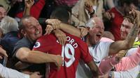 Marcus Rashford adalah aset terbaik yang dimiliki oleh Manchester United jadi sudah tentu dipertahankan manajemen. (Photo by Lindsey PARNABY / AFP)
