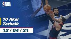 Berita video 10 aksi terbaik NBA 12 April 2021 ada dunk fantastis pemain Los Angeles Clippers, Paul George.