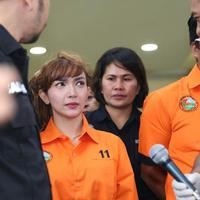 Kepolisian menggelar rilis terkait penangkapan Roro Fitria karena sabu.