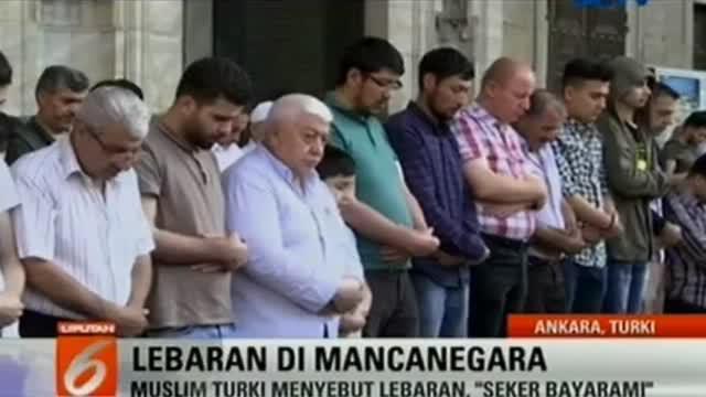Ramainya suasana Idul Fitri di Indonesia, hal serupa juga terjadi di negara konflik seperti Turki dan Irak.