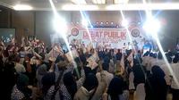 Suasana debat publik Pilkada Kota Malang pada Sabtu 7 April 2018 (Liputan6.com/Zainul Arifin)