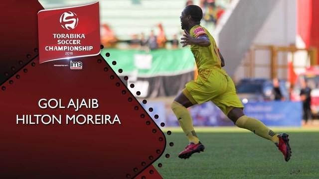 Striker Sriwijaya FC berhasil mencetak gol indah kala Laskar Wong Kito menjamu Madura United di Torabika SC 2016 pekan lalu.