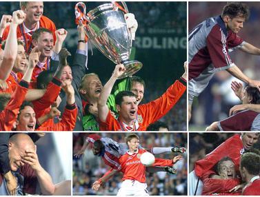 Manchester United atas Bayern Munchen di Final Liga Champions 1999