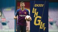 Pemain anyar Barcelona, Clement Lenglet. (Twitter/Barcelona)