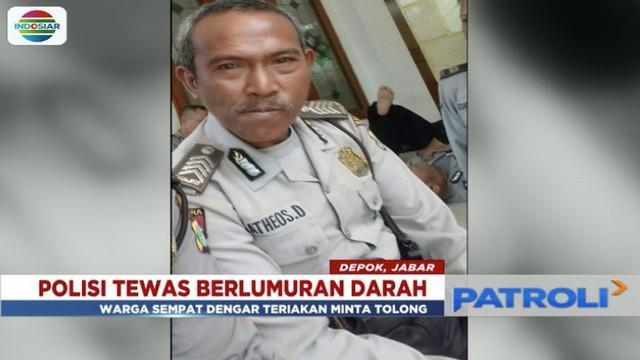 Seorang polisi berpangkat brpka tewas bersimbah darah saat malam tahun baru di TPU Mutiara, Pancoran Mas, Depok.