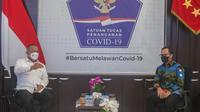 Wali Kota Bogor Bima Arya akan aktifkan kembali Operasional Rumah Sakit Lapangan untuk perawatan pasien Covid-19 di Kota Bogor. (Foto: Achmad Sudarno)