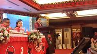 Ketua Umum PDIP, Megawati Soekarno Putri menutup Rakernas PDIP (Liputan6.com/ putu)