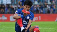 Pemain Arema FC, Feby Eka Putra. (Bola.com/Iwan Setiawan)