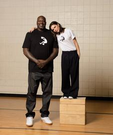 Shaquille O'neal with Victoria Beckham - Photo: reebok