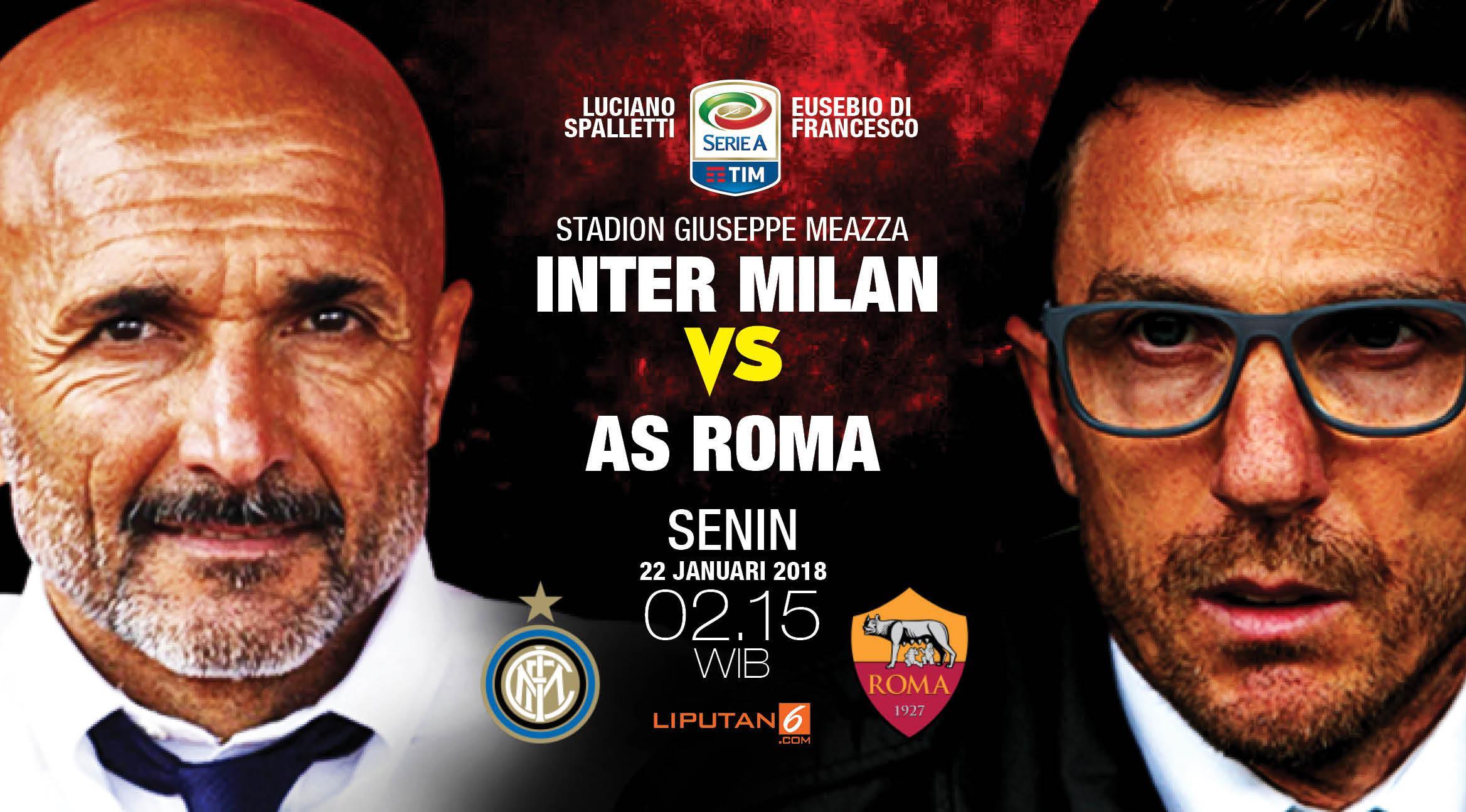 Inter Milan vs AS Roma (Liputan6.com/Abdillah)
