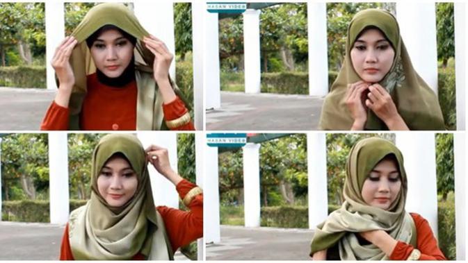 Tutorial Hijab Segi Empat Praktis Namun Tetap Modis Beauty Fimela Com