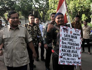 Jalan Kaki Dari Tegal, Rahman Akhirnya Berjumpa dengan Prabowo