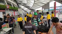 Pengamanan di International Champions Cup 2019 di Singapura sangat ketat. (Liputan6.com/ Thomas)