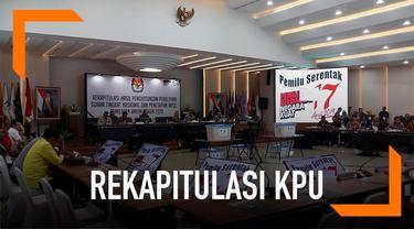 KPU menggelar rapat pleno nasional rekapitulasi pemilu luar negeri. Hari ini ada 26 perwakilan panitia pemilu luar negeri yang melakuan rekapitulasi