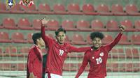Penyerang Timnas Indonesia U-23, Hanis Saghara (kiri) dan Bagus Kahfi. (Instagram PSSI).