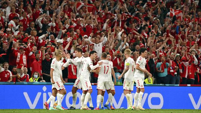 FOTO: Denmark Lumat Rusia 4-1 di Euro 2020