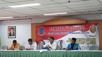 Kajian Ilmiah terkait Kelayakan Pemanfaatan dan Kelanjutan Reklamasi Teluk Jakarta. (Liputan6.com/Moch Harun Syah)