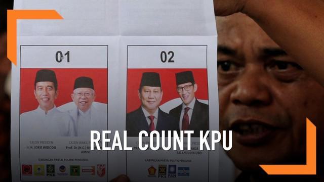 KPU terus melakukan proses penghitungan hasil Pilpres 2019. Menurut data KPU hingga siang ini Jokowi masih unggul dari Prabowo dengan jarak suara hampir 13%.
