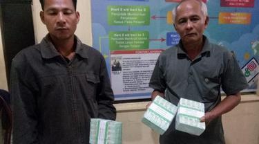 Barang bukti uang yang diduga dijadikan untuk politik uang di Kabupaten Nias, Sumatra Utara.
