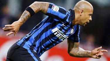 Gol kemenangan Felipe Melo asal Internazionale yang dicetak pada menit ke 56 di laga Inter vs Verona yang berakhir dengan skor 1-0 pada Kamis (24/9/2015).