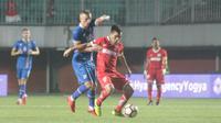 Timnas Islandia menang 6-0 dalam laga uji coba melawan Indonesia Selection, Kamis (11/1/2018) di Stadion Maguwoharjo, Sleman. (Bola.com/Ronald Seger)
