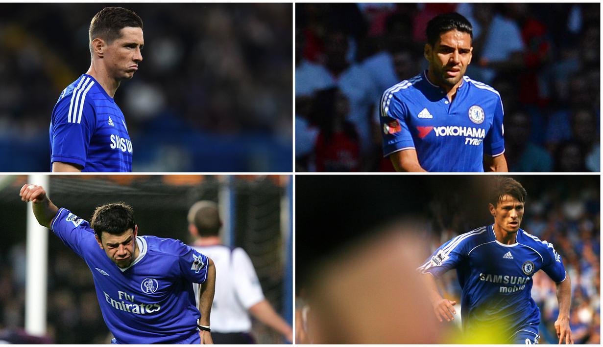 Berikut barisan pemain bintang yang kesaktiannya menurun ketika menggunakan nomor punggung sembilan di Chelsea. Diantaranya, Hernan Crespo, Fernando Torres dan Radamel Falcao.