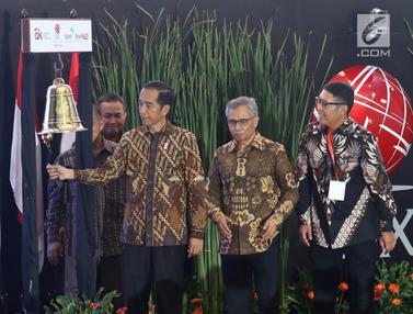 Jokowi Tutup Perdagangan Saham 2018