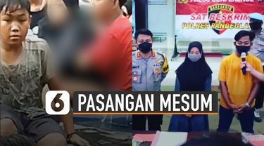 Setelah viral, DS (20) dan RA (18) diciduk Polres Pandeglang.