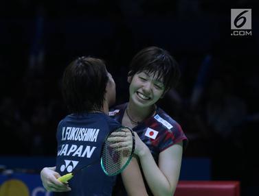 Pasangan ganda putri Jepang, Yuki Fukushima/Sayaka Hirota