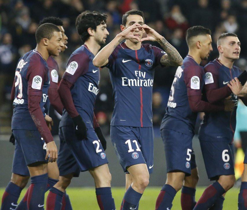 Gelandang Paris Saint-Germain, Angel Di Maria (Twitter PSG)