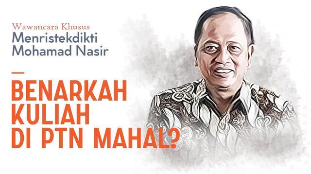 Wawancara Khusus Menristekdikti M Nasir. (Liputan6.com/Abdillah)