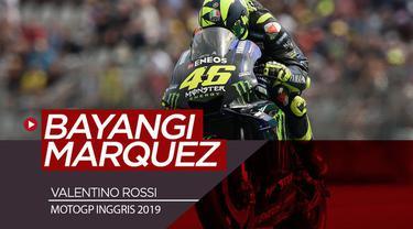 Berita video Valentino Rossi akan membayangi Marc Marquez pada balapan MotoGP Inggris setelah hasil yang didapat di sesi kualifikasi, Sabtu (24/8/2019).