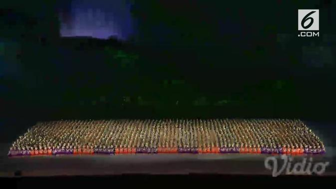 Spektakuler, pembukaan Asian Games 2018 dibuka dengan Tari Saman yang dilakukan ribuan orang (Liputan6)