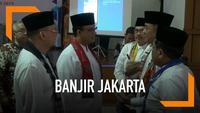 Gubernur DKI Anies Baswedan mengatakan Pemprov DKI sedang membangun 2 bendungan untuk mengendalikan air kiriman dari hulu ke DKI Jakarta.