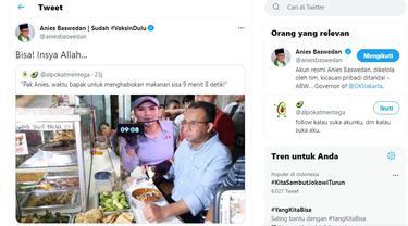 Gubernur DKI Jakarta Anies Baswedan merespons meme gambar dirinya