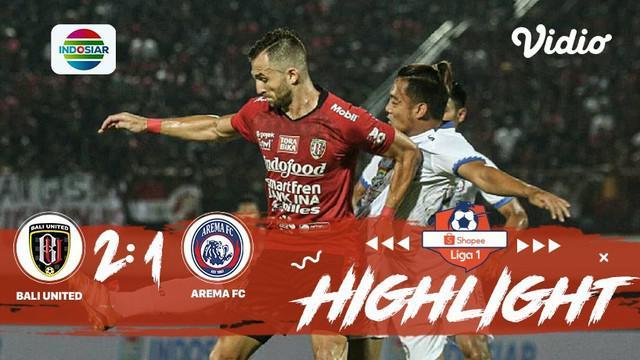 Pertandingan #ShopeeLiga1, antara #Bali United VS #Arema FC yang berlangsung di stadion Kapten I Wayan Dipta, Bali pada hari Sabtu...