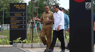 Didampingi Anies Baswedan, Jokowi Tinjau Wisma Altet